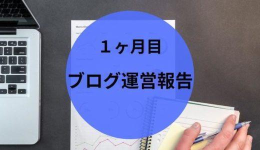 【ブログ運営報告】1ヶ月目  PV数 収益  今後の目標は?