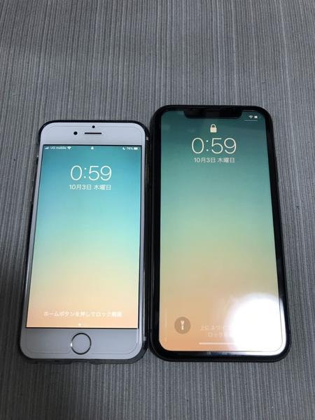 iPhone6SとiPhone11
