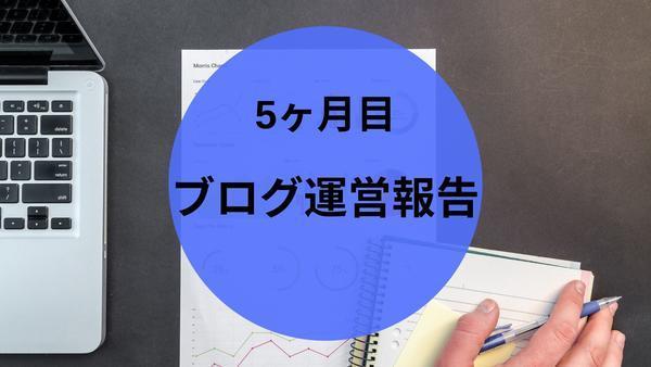 【雑記ブログ5ヶ月目】の運営報告! PV数と収益 さぼりの代償は?