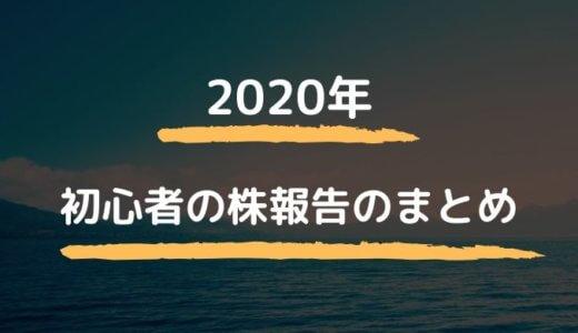 株初心者サラリーマンの収支報告 2020まとめ~無能の足跡~